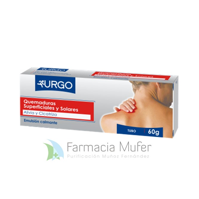 URGO QUEMADURAS SUPERFICIALES Y SOLARES EMULSION, 1 tubo de 60 g